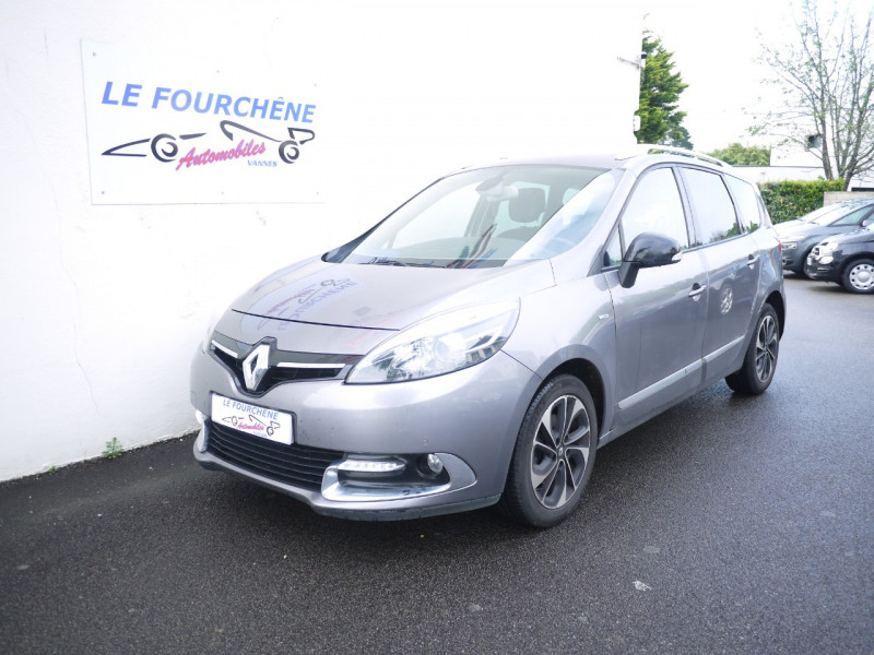 Renault GRAND SCENIC III 1.6 DCI 130CH ENERGY BOSE ECO² 7 PLACES 2015 Diesel GRIS F Occasion à vendre